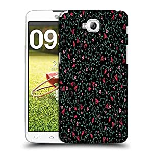 Snoogg Colorful Flowers Designer Protective Phone Back Case Cover For LG G Pro Lite