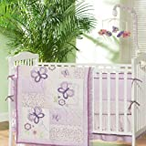 BABY FIRST 4-Piece Butterfly Garden Crib Set, Multicolor