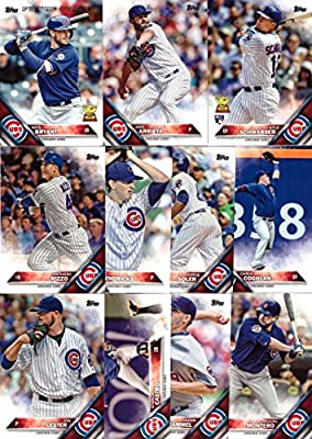 2016 Topps Series 1 Chicago Cubs Baseball Card Team Set - 11 Card Set - Includes Kris Bryant, Kyle Schwarber, Anthony Rizzo, Jake Arrieta, Jon Lester,, and more!