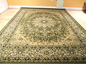 Amazon Com Beautiful Green Persian Style Rug Traditional