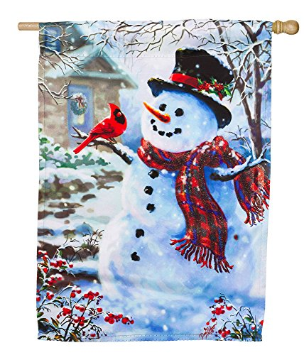 snowman-and-cardinal-glitter-accented-house-flag