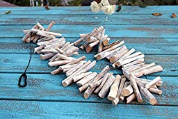 Natural Weathered Driftwood Garland Decor White (4ft)