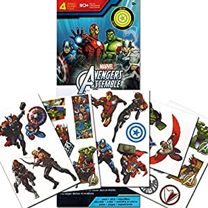 Buy marvel avengers stickers 110 removable avengers wall for Avengers wall mural amazon