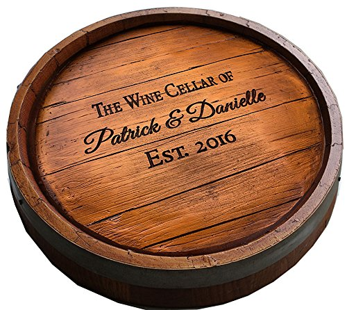 Wine Quarter Barrel Personalized Lazy Susan by  Piazza Pisano
