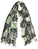Craftshub Stylish Printed Multicoloured Stole Scarf with tassels