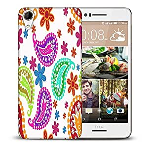 Snoogg Colorful White Pattern Printed Protective Phone Back Case Cover For HTC Desire 728