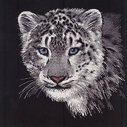 Kit de punto de cruz. Leopardo Blanco