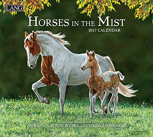 lang-2017-horses-in-the-mist-wall-calendar-13375-x-24-inches-17991001917