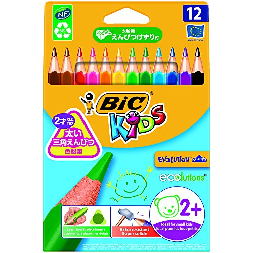 Pastelli Kids Evolution Triangle Bic 10,2 mm da 2 anni 829735 (conf.12)
