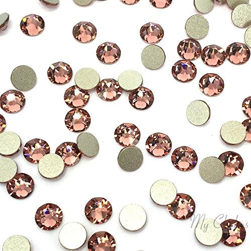 BLUSH ROSE (257) pink Swarovski NEW 2088 XIRIUS Rose 34ss 7mm flatback No-Hotfix rhinestones ss34 18 pcs (1/8 gross) *FREE Shipping from Mychobos (Crystal-Wholesale)*
