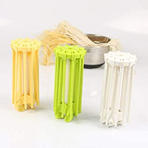 White Easy Storage and Quick Set-Up Spaghetti Drying Rack Noodle Stand GOZIHA Pasta Drying Rack Noodle Stand with 10 Bar Handles Collapsible Household Noodle Dryer Rack Hanging for Home Use