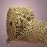 "Natural Burlap Ribbon, 1-1/2"" X 10Yd"