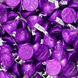 Hersheys Kisses Dark Chocolate Purple Wrapping 2 Pounds