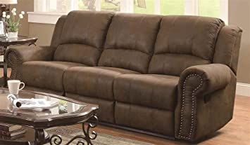 Coaster Home Furnishings 650151 Casual Motion Sofa, Brown