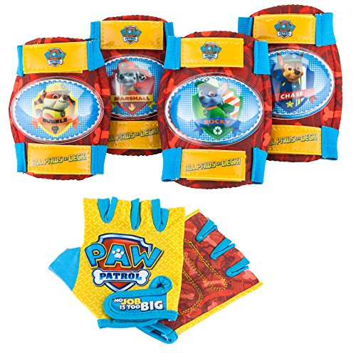 Paw-Patrol-PP78217-6-Toddler-Knee-Elbow-Pad-Set-with-Gloves