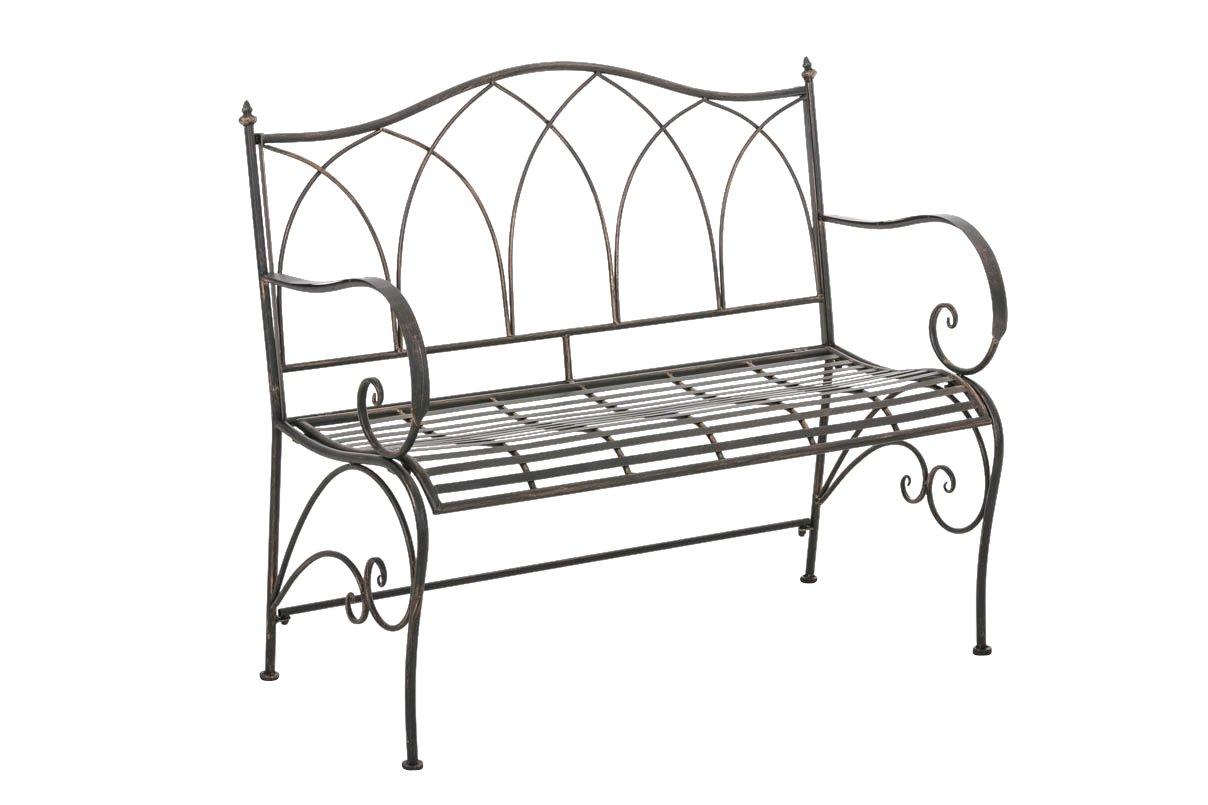 CLP Gartenbank ORKUN im Landhausstil, aus lackiertem Eisen, 107 x 50 cm – aus bis zu 6 Farben wählen bronze jetzt kaufen