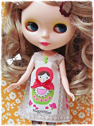 619 WNRBacL Cheap Price Neo Blythe Doll Clothe Dress Outfit   Russian Doll Dress