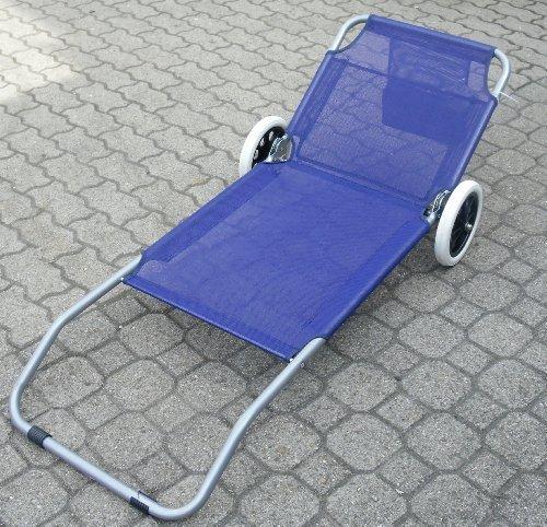strandliege mit rollen klappbar strandrolli schwimmbadliege rollliege blau ean. Black Bedroom Furniture Sets. Home Design Ideas