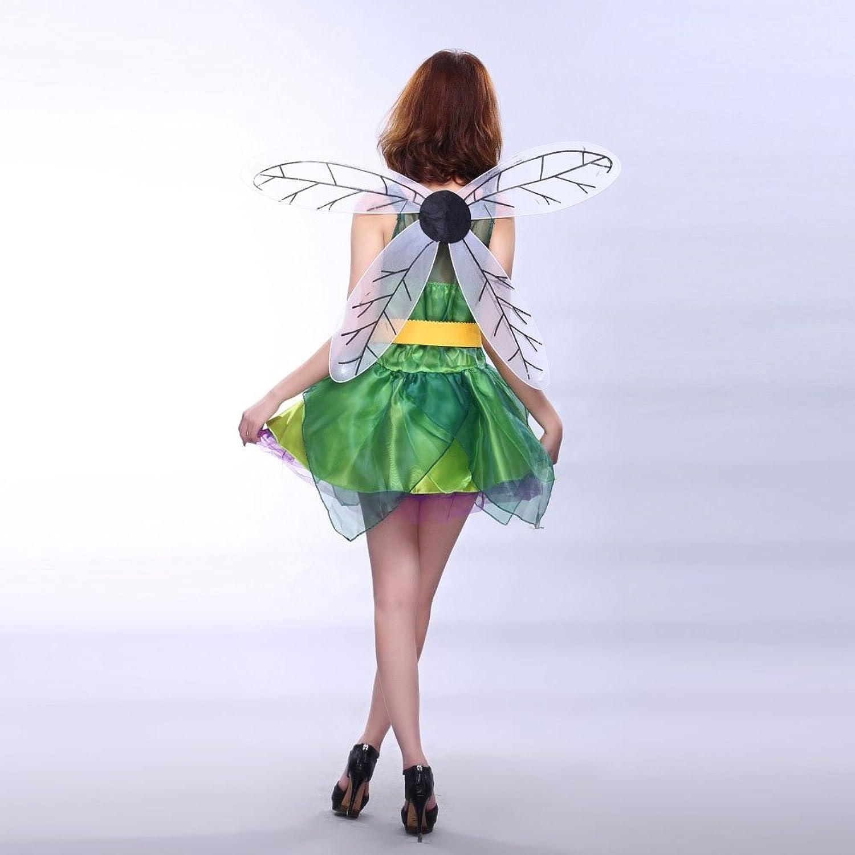 Iainswan Sexy Cosplay Dessous grün Engel grün Goblin + Flügel Kostüm Karneval Halloween Gothic