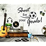 Revesun Football Shoot For Your Goals Home D¨¦cor Wall Sticker Paper Stickers For Kids Living Room
