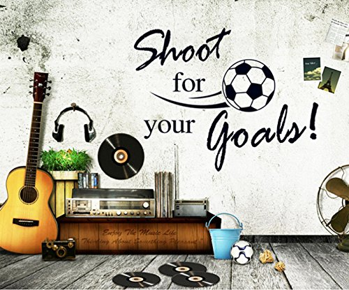 Revesun Football Shoot for Your Goals Home D¨¦cor Wall Sticker Paper Stickers For Kids Living Room - 1