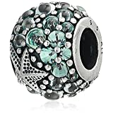 Pandora Women's Oceanic Starfish Charm - 791905CZF (Color: Silver)