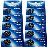 10 x CR2025 Markenware Eunicell 3V Lithium Knopfzelle Eunicell Vertrieb Deutschland