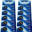 10 x CR2025 3V Lithium Knopfzelle 150 mAh ( 2 Blistercards a 5 Batterien ) Markenware --- EUNICELL ---