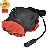 Junda Portable Car Heater Fast Heating Quickly Defrosts Defogger with 3-Outlet, Suitable for 12V 150W Auto Car