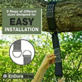 Premium Hanging Straps (2 pcs.) - EnDura MOST DURABLE and Easy to install to hang your Hammock, Swing, Bench, Air Chair, Disk, Tire or nearly ANYTHING