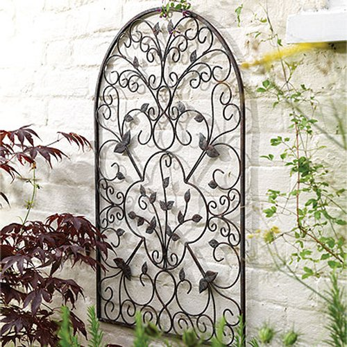Arbors trelliswork uk spanish decorative metal for Plaque metal decorative pour jardin