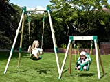 TP TOYS - ACORN WOODEN GROWABLE SWING FRAME WITH QUADPOD BABY SEAT (TP302 & 999)