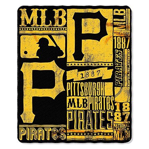 "MLB Pittsburgh Pirates Baseball Sports Team 50"" X 60"" Fleece Fabric Throw"