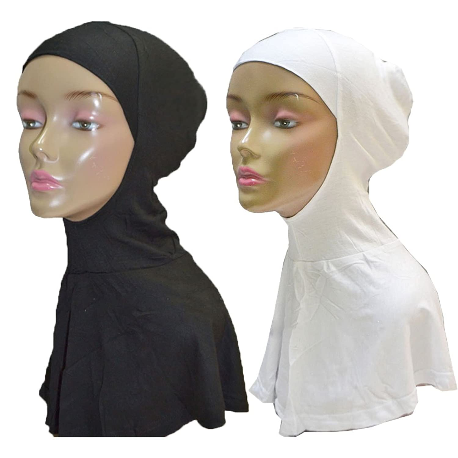Hayaa Long Ninja Underscarf Hijab with Back Slit Pack of 2