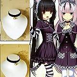 Cosplay Black Lolita Bell Choker Cat Gothic Collar Anime Fancy Necklace Pendants