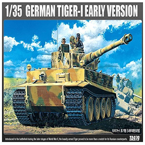 Academy 13239 German TIGER-I Early Version Armor Tank Plastic Model Kit (Academy 1 35 Sherman compare prices)