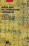 Mille ans de littérature japonaise : Une anthologie du VIIIe au XVIIIe siècle par Nakamura