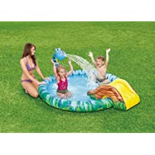 "Snake Sprinkler & Slide Childrens Play Center Inflatable Swimming Pool 77"" X 65"" X 26"""