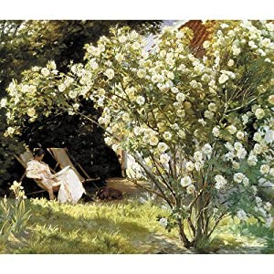 Puzzle Michèle Wilson - Wood Jigsaw Puzzle - Kroyer : In the Rose Garden