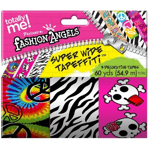 Totally Me! Fashion Angels Super Wide Tapeffiti 3 Pack - Zebra Print/Skulls