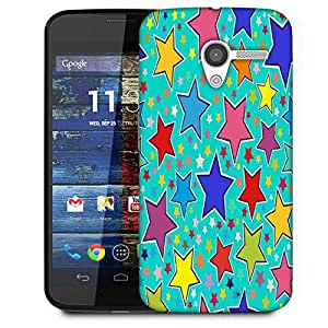 Snoogg Stars In Green Pattern Designer Protective Phone Back Case Cover For Moto X / Motorola X
