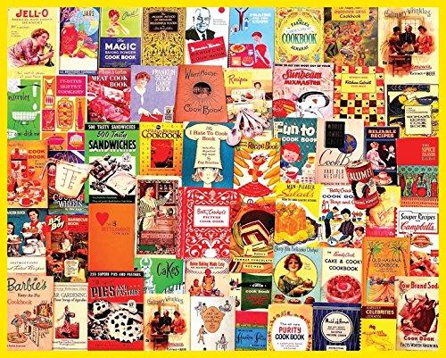 Cookbooks Collage - 1000 Piece Jigsaw Puzzle