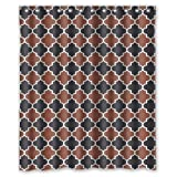 img - for Classic Brown Black White Moroccan Trellis Latticework Shower Curtains,Polyester Waterproof,60 book / textbook / text book