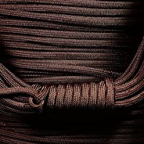 550 Parachute Cord - 100 Colors - 50 or 100 FT - 7 Strand - Type 3 - USA Made - Paracord (ACID DARK BROWN, 100)