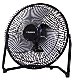 "Pelonis 9"" High Velocity Metal Table/Floor Fan (Black)"
