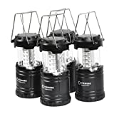 4 Pack,Portable LED Camping Lantern,Outdoor Flashlights.Water Resistant Ultra Bright 30 LED Lantern for Hiking,Emergencies,Hurricanes,Outages,Storms,Camping,Fishing.(Batteries Not Included) (Color: 4 Pack, Tamaño: Average)