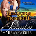 Blood and Treasure: Romancing the Pirate, Book 1 (       UNABRIDGED) by Jennifer Bray-Weber Narrated by Voices Online Now