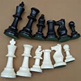 Chess Pieces, Plastic Chess Set International Chess Set Complete Chess Set Black White (M) (Tamaño: Medium)