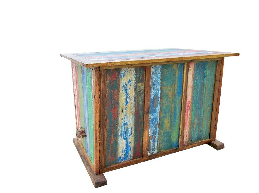 Outflexx Tisch Fishboat, 160 x 120 x 110 cm, mehrfarbig