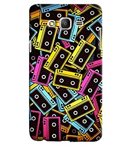 Omnam Colored Casettes Pattern Printed Designer Back Cover Case For Samsung Galaxy On 5